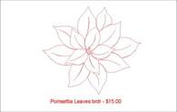 Poinsettia Leaves brdr