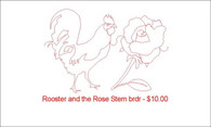 Rooster and the Rose Stem brdr