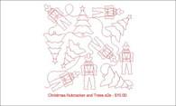 Christmas nutcracker and trees e2e