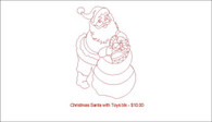 Christmas Santa with toys blk