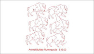 Animal Buffalo Runing e2e