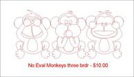 No Evil Monkeys Three brdr