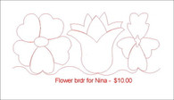 Flower brdr for Nina