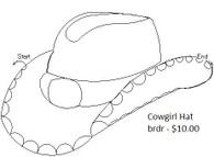 Cowgirl Hat brdr
