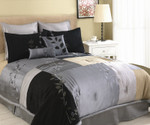 Back to Nature 8 Pc Comforter Set - Silver/Black