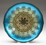 Red Pomegranate Moroccan Bowl - Blue