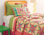 Pine Cone Hill Diamond Key Lime Matelassé Coverlet