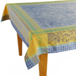 Jacquard  Weave French Tablecloth - Cotignac Blue