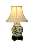 Porcelain Bird Flower Lamp