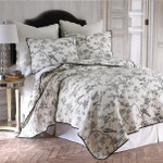 Levtex Black Toile Quilt Set