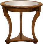 Laurel Crown Glass Top Round Table