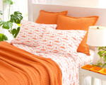 Pine Cone Hill Boyfriend Orange Matelassé Coverlet