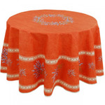 Provence Coated Cotton Tablecloth - Valensole Terra Cotta