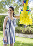 Bamboo Dreams® Tessa Tunic - Navy Chevron
