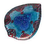 Red Pomegranate Casa Blanca Plate - Lapis Blue