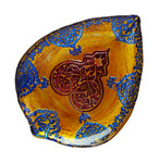 Red Pomegranate Casa Blanca Plate - Gold