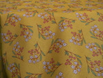 Le Cluny Provencal Coated Cotton Tablecloths - Petite Fleur Yellow