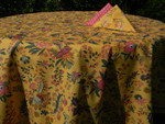 Le Cluny Provencal Coated Cotton Tablecloths - Versailles Yellow