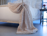 Lili Alessandra Ribbon Throw Blanket - Ivory
