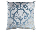 Lili Alessandra Versailles Square Pillow - Ice Blue/Ivory