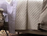 Lili Alessandra Emily Diamond Quilted Coverlet - White Linen