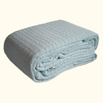 Dransfield and Ross House Network Quilted Coverlet - Sky