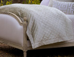 Lili Alessandra Rafie Diamond Quilted Ice Silver Duvet Cover