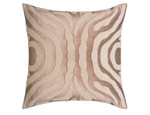 Lili Alessandra Zebra Square Pillow - Fawn Velvet / White Beads