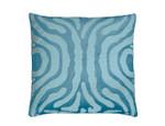Lili Alessandra Zebra Square Pillow - Seafoam Velvet / Ivory Beads