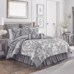 Croscill Everly Silver Comforter Set