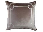 Lili Alessandra Angie European Pillow - Champagne Velvet/Ivory Velvet