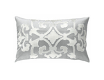 Lili Alessandra Angie Rectangle Pillow - Blue Silk / Silver Velvet