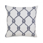 Southern Tide Breakwater Embroidered Rope Square Pillow - Nautical Blue