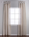 Pom Pom at Home Linen Voile Tie Top Flax Curtain