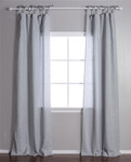 Pom Pom at Home Tie Top Ocean Curtain