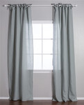 Pom Pom at Home Tie Top Sea Foam Curtain