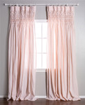 Pom Pom at Home Smocked Pink Curtain