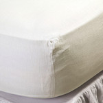 Pom Pom at Home Linen Fitted Sheet - Cream