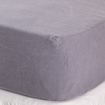 Pom Pom at Home Linen Fitted Sheet - Slate