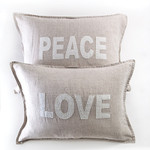 Pom Pom at Home Love/Peace Shams (pair)