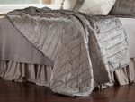 Lili Alessandra Moderne Throw - Silver