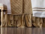 Lili Alessandra Chloe Straw Velvet Gathered Bedskirt