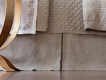 Lili Alessandra Casablanca Tailored Bedskirt - Stone Linen