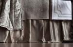 Lili Alessandra Retro Gathered Bedskirt - Pewter