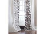 Lili Alessandra Mozart Drapery Panel (Set of 2) - White Linen / Silver Velvet Applique