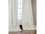 Lili Alessandra Mozart Drapery Panel (Set of 2) - White Linen / White Linen Applique