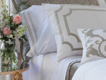 Lili Alessandra Soho Sheet Set - White / Oyster