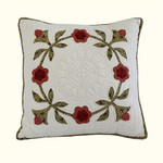 Nostalgia Home Folk Art Square Pillow