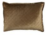 Lili Alessandra Chloe Straw Velvet Luxe Euro Pillow