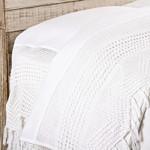 Pom Pom at Home Vintage Crochet Flat Sheet - White